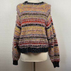Urban Outfitters Sweater XS Rainbow Striped Fringe